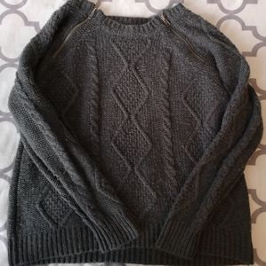 🚨Alfred Sung Wool Mix Knit Top with Zipper Detail